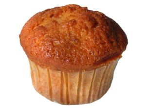 Biologische muffins met banaan en honing